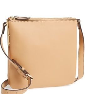 Vince Camuto Neve Tan Leather Crossbody Bag